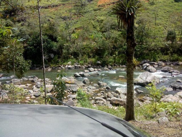 Lindo terreno 15m de testada para rio com lindo poço bom acesso próximo ao asfalto